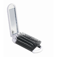 Foldable Hairbrush With Mirror