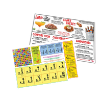 A4 Plastic Laminated Placemats