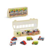 Bus Shaped Rubber Set
