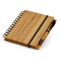 Bamboo Notepad With Lined Recycled Paper