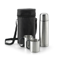 Thermal Bottle Set With 2 Mugs