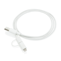 2 in 1 cable, white