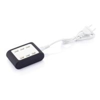 6 port USB charger, black