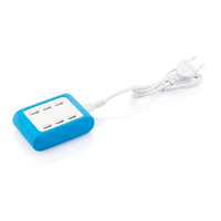 6 port USB charger, blue