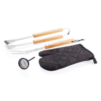 4 pcs BBQ set, black