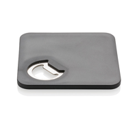 2-in-1 coaster & opener, black