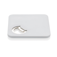 2-in-1 coaster & opener, white