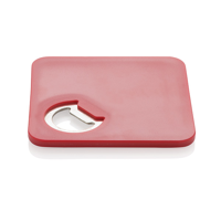 2-in-1 coaster & opener, red