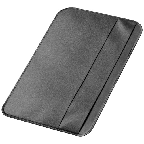I.D. Please card holder in black-solid