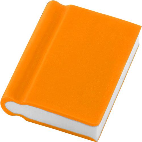Book Shaped Eraser in orange