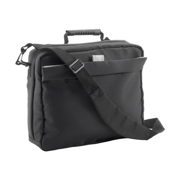 Document/laptop bag in black