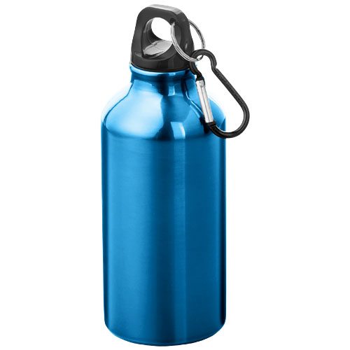 Oregon drinking bottle with carabiner in blue