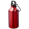 Oregon drinking bottle with carabiner in red
