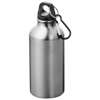 Oregon drinking bottle with carabiner in silver