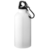 Oregon drinking bottle with carabiner in white-solid