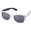 Crockett sunglasses in white-solid-and-black-solid