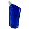 Cabo 600 ml water bag with carabiner in transparent-blue
