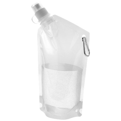 Cabo 600 ml water bag with carabiner in transparent-clear