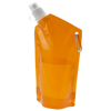 Cabo 600 ml water bag with carabiner in transparent-orange