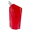Cabo 600 ml water bag with carabiner in transparent-red