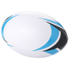 Stadium rugby ball in white-solid-and-blue