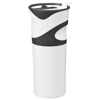 Wave insulated tumbler in white-solid