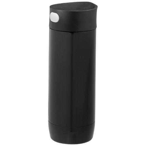 Valby 400 ml leak-proof vacuum insulated tumbler in black-solid