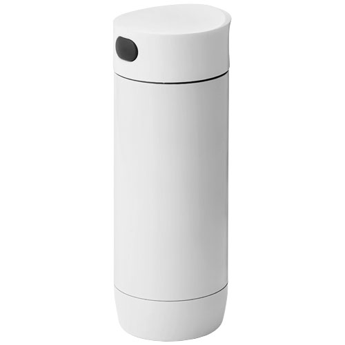 Valby 400 ml leak-proof vacuum insulated tumbler in white-solid