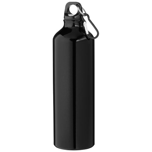 Pacific 770 ml sport bottle with carabiner in black-solid