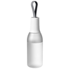 Flow 650 ml sport bottle with carrying strap in frosted-clear-and-white-solid
