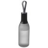 Flow 650 ml sport bottle with carrying strap in transparent-black