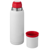 Flow vacuum insulated flask in white-solid-and-red
