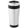 Elwood 410 ml insulated tumbler in silver-and-black-solid
