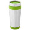 Elwood 410 ml insulated tumbler in silver-and-lime-green