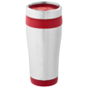 Elwood 410 ml insulated tumbler in silver-and-red