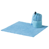 Diamond car cleaning towel and pouch in blue