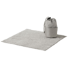 Diamond car cleaning towel and pouch in grey