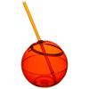 Fiesta 580 ml beverage ball with straw in orange