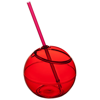 Fiesta 580 ml beverage ball with straw in red