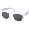 Sun Ray foldable sunglasses in white-solid