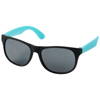 Retro duo-tone sunglasses in black-solid-and-aqua-blue