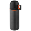 Nakiska vacuum insulated flask in grey-and-black-solid