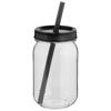 Binx mason jar in black-solid
