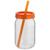 Binx mason jar in orange