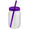 Binx mason jar in purple