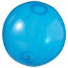 Ibiza transparent beach ball in transparent-blue