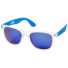 California exclusively designed sunglasses in blue-and-transparent