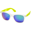 California exclusively designed sunglasses in lime-and-transparent