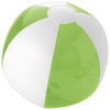 Bondi solid and transparent beach ball in lime-and-white-solid