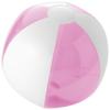 Bondi solid and transparent beach ball in pink-and-white-solid